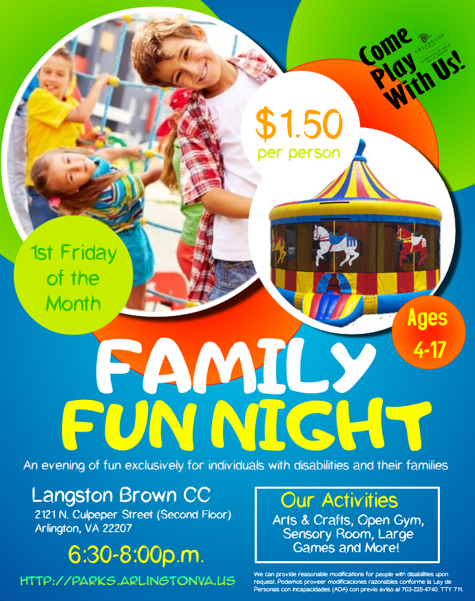 Family Fun Night @ Langston Brown Community Center | Arlington | Virginia | United States